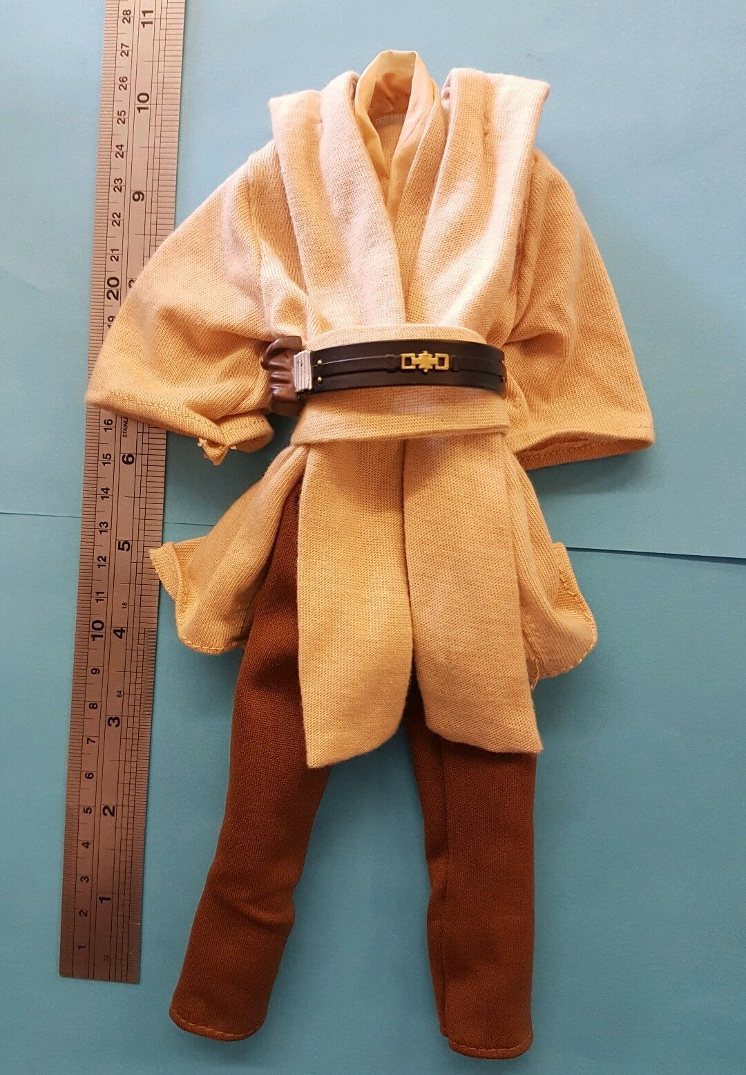 1 6 scale Epi I Star Wars Qui-Gon Jinn 's outfit for custom 12   figure 12 inch