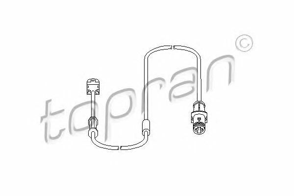 TOPRAN 207 453 Sensor, brake pad wear
