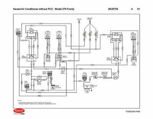 peterbilt 379 family hvac wiring diagrams with without pcc 04 rh ebay com Peterbilt Fuse Panel Diagram Peterbilt Hood Parts Diagram