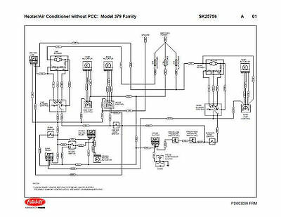 Peterbilt 379 Family HVAC Wiring Diagrams (with & without PCC) 04/2004 &  Down | eBayeBay