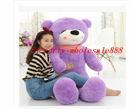 2019 Giant 47  viola Sleepy Teddy Bear Plush Huge Soft Doll 100% PP Cotton Toys