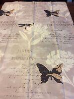 French Floral Butterfly Shower Curtain Fleurs De Saison Jardin De Papillons