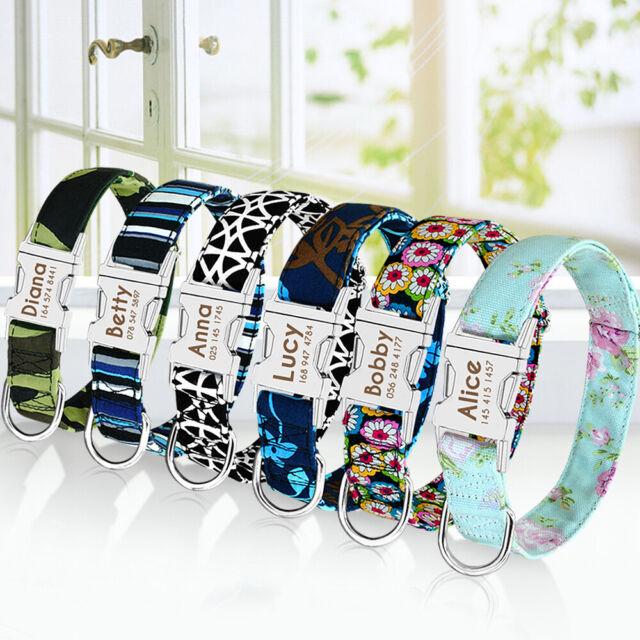 Hundehalsband mit Namen Personalisiert Nylon Halsband Katzenhalsband Gepolstert
