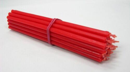 25 St Roten Kirchlichen Kerzen свечи красные церковные пасхальные 17,5 cm