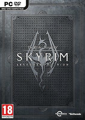 The Elder Scrolls V: Skyrim Legendary Edition ( PC GAME ) NEW SEALED (PC-DVD)