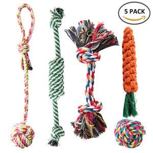 5-X-chien-jouets-corde-dur-forte-macher-noeud-noue-PET-chiot-sain-dents-ours
