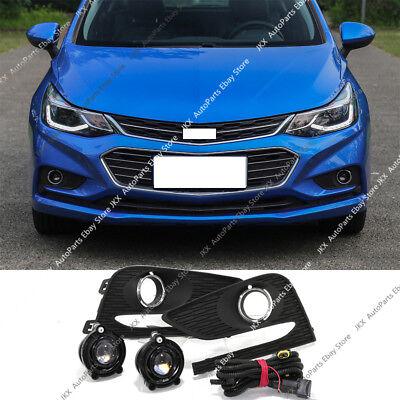 Right Passenger Side Bumper Bezel Fog Lamp Cover o For Chevrolet Cruze 2016-18