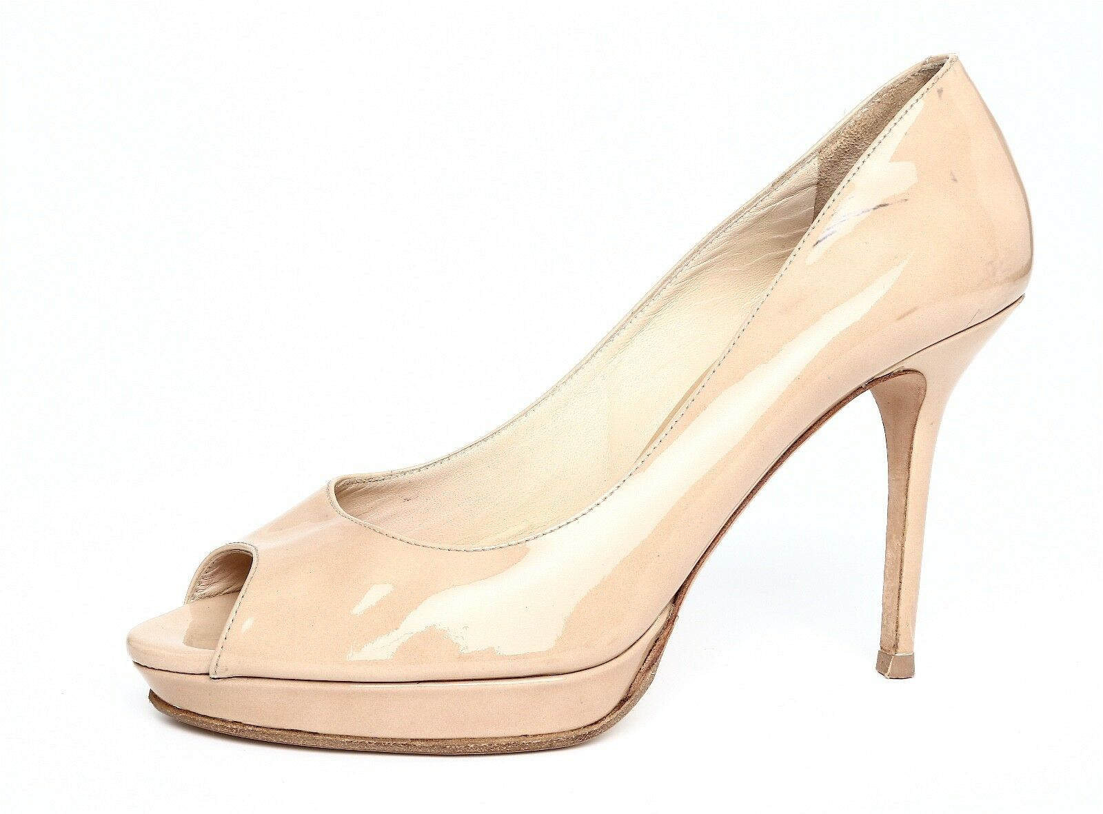 ultimi stili Jimmy Choo Donna  Slip Slip Slip On Beige Patent Leather Pump Sz 38.5 EUR 4718  profitto zero