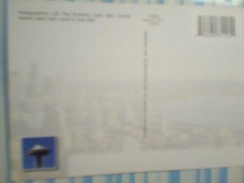 aerial view PHOTO POST CARD SPACE NEEDLE /&  GREAT WHEEL SEATTLE WASHINGTON