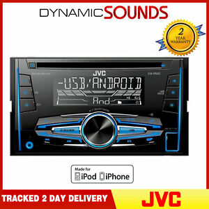 JVC-KW-R520-CD-MP3-Doble-din-Coche-Estereo-USB-Clavija-Frente-Aux-En-Android-Ya