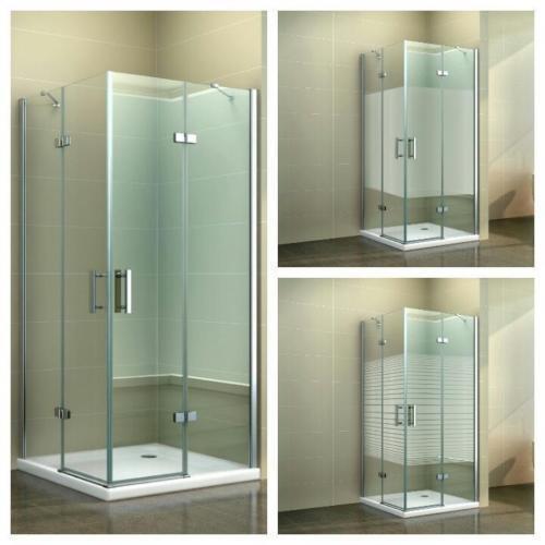 Duschkabine Eckdusche Dusche Duschabtrennung Pendel Quadrat Glas Eder