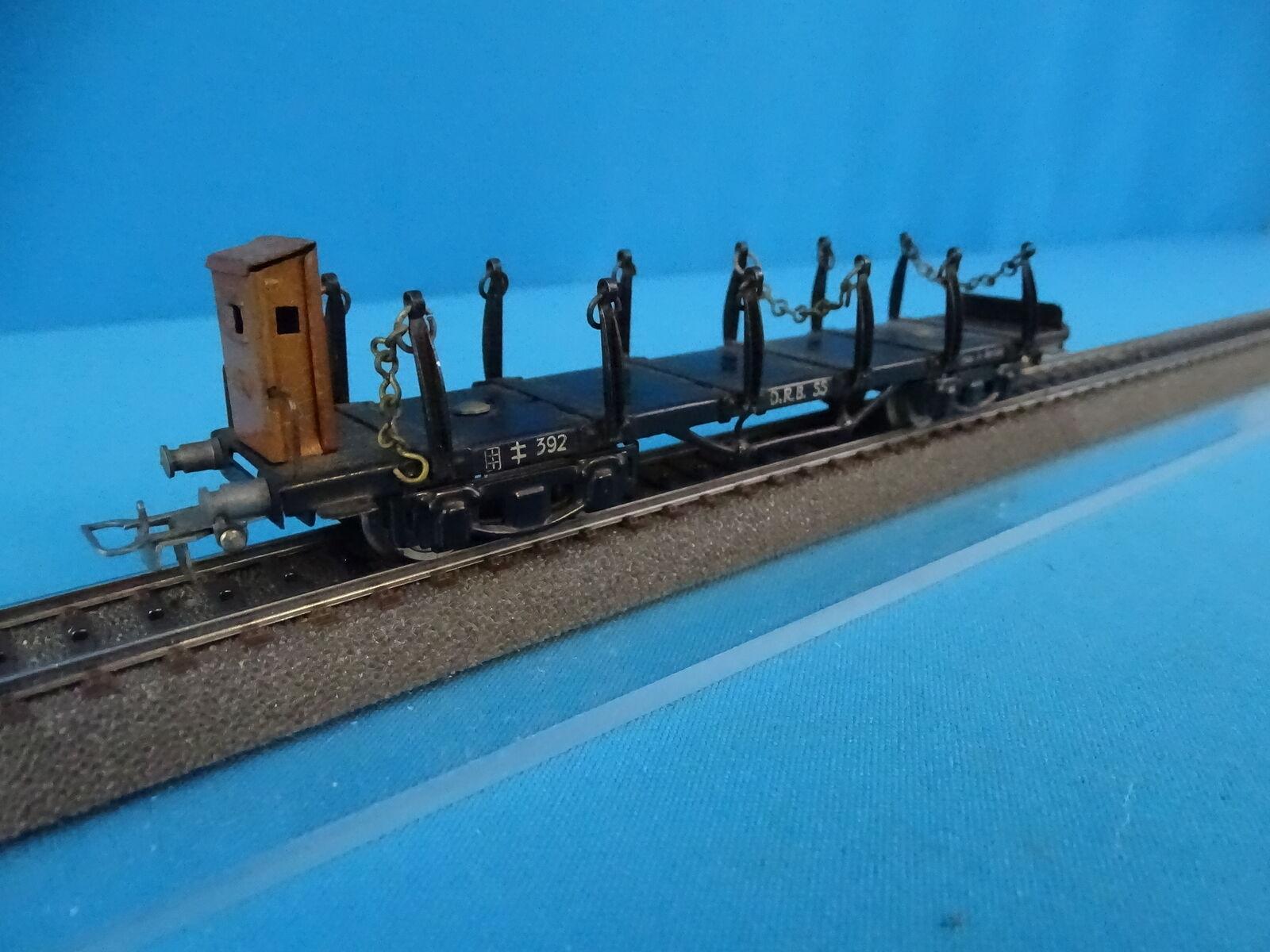 Marklin 392 Four axled Flat Coche Rungen wagen in OVP 1945