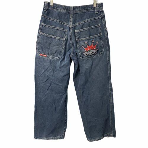 Vintage 90s JNCO Jeans 32 x 32 Mens Blue Wide Leg