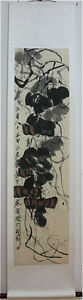 Excellent-Chinese-Scroll-Painting-034-Pumpkin-034-By-Qi-baishi-B