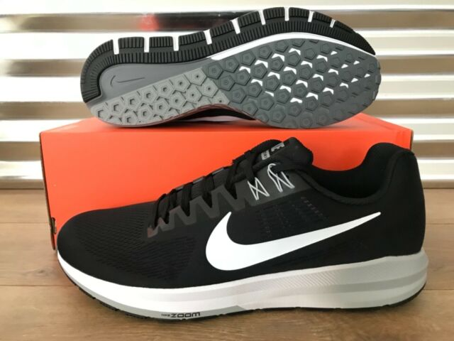 buy popular b827f 091de Nike Air Zoom Structure 21 Running Shoes Black White Wolf Grey SZ (  904695-001 )