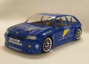 0412-Carrozzeria body RC 1/10 Renault Clio Williams + stickers/adesivi +mask