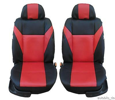 Sitzbezüge Rot Schwarz Komplettsatz Schonbezüge Komfort Satz für Saab Suzuki VW