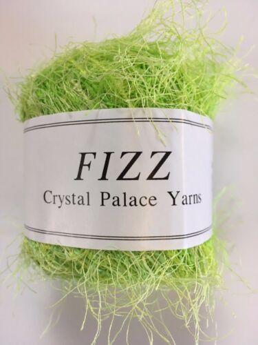 Light Green Medley 50g 120yd Crystal Palace Fizz Eyelash Yarn #9224 Key Lime