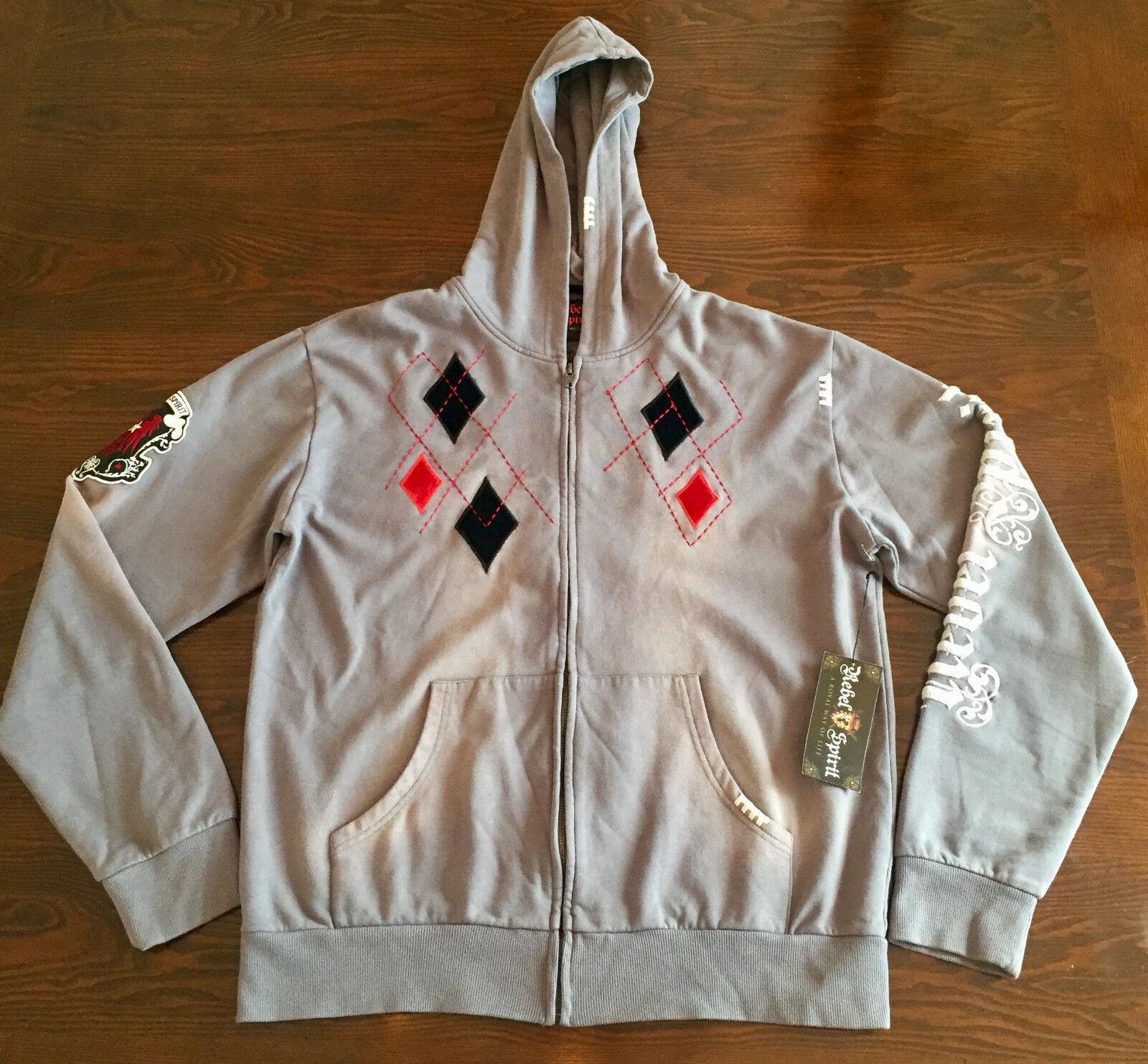 Rebel Spirit Vintage Zip Hoodie  Herren Größe XL NWT