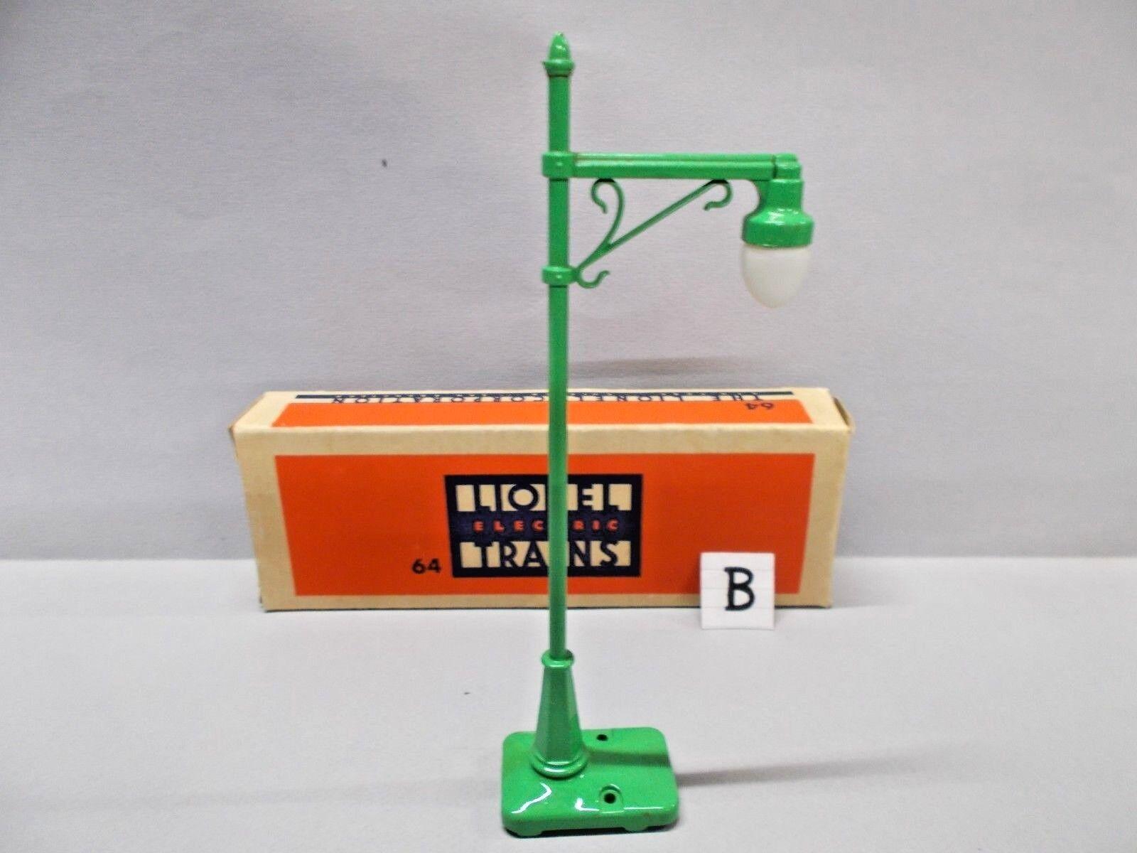 LIONEL O Gauge HIGHWAY LAMP POST Circa 1949 RARE BOX Example 'B' Gauge 0