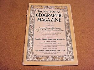 National Geographic May 1918 Smaller North American Mammals