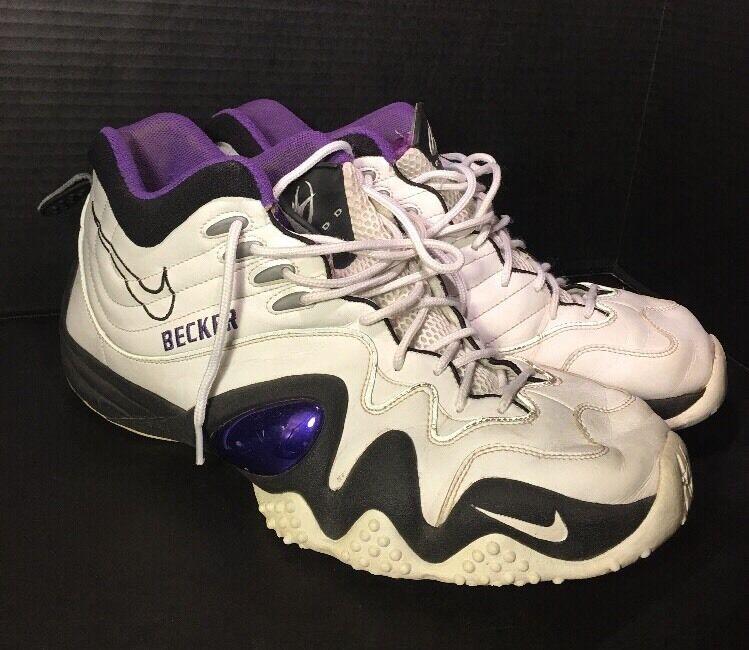 880e3bd475 Nike KIDD Men shoes White & Purple Becker US 15 Basketball  noeijx10322-Athletic Shoes