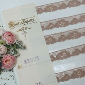 36y BOLT ANTIQUE FRENCH LACE SPOOL ROLL DOLL DRESS BEAR RIBBON TRIM TULLE SILK
