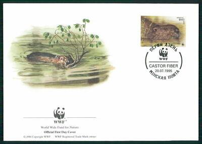 Belarus Schmuck-fdc 1995 Wwf Fauna Tiere Animals Biber Beaver Castor El83