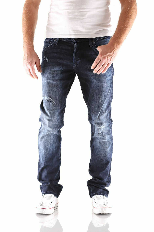 Jack & Jones-Glenn ORIGINALE GE 149 Slim Fit-Blu Jeans Uomo Pantaloni
