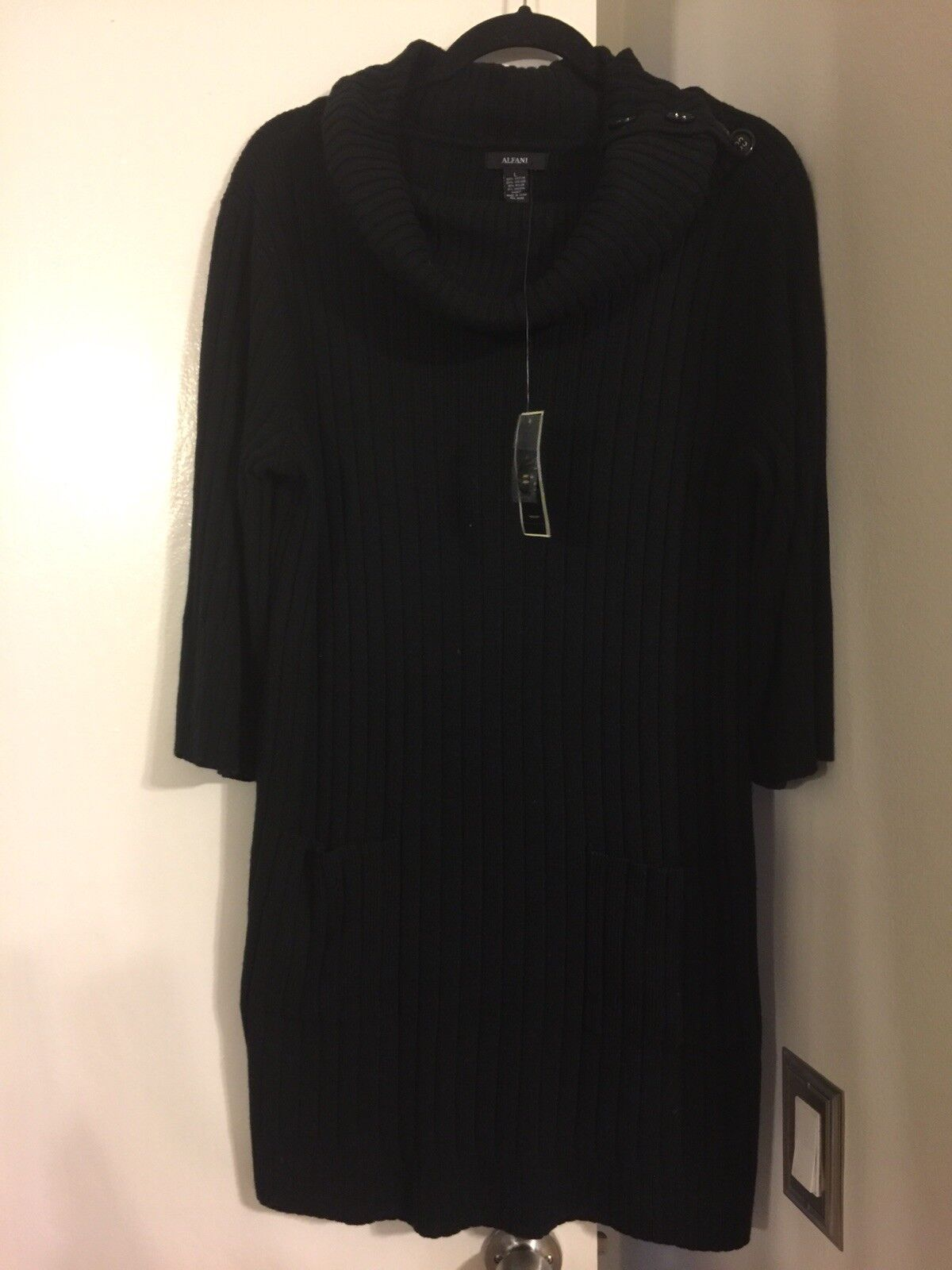 Alfani schwarz Sweater Dress damen Größe Large New With Tags