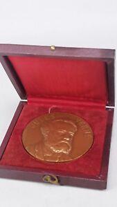 Jules Verne Médaille De Bronze Dans Le Cas De La Littérature Sciences Geographie, 1828-1905-afficher Le Titre D'origine Performance Fiable