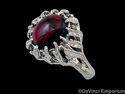 Sterling Silver Narya Garnet Ring of Gandalf Lord of the Rings