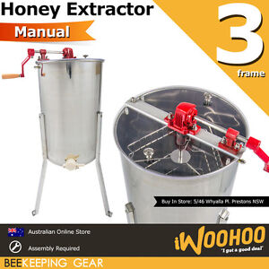 6eb1c6acdf9 Image is loading 3-Frame-Manual-Honey-Extractor-Beekeeping-Spinner-Apiarist-