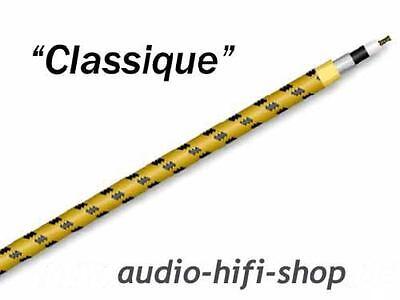 High-end Audiokabel CLASSIQUE in gelb / schwarz von Sommer Cable Meterware
