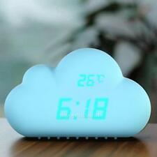 Cloud Sound Control USB Digital Alarm Clock Time Temperature Date Clock Decor