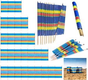 4 5 6 8 10 poteaux en bois Wind Breaker Plage Camping écran solaire abri Brise-Vent