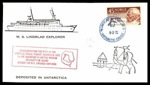 NORWAY-MS-LINDBLAD-EXPLORER-ANTARCTIC-TOURIST-EXPEDITION-FEBRUARY-8-1972-CACHET