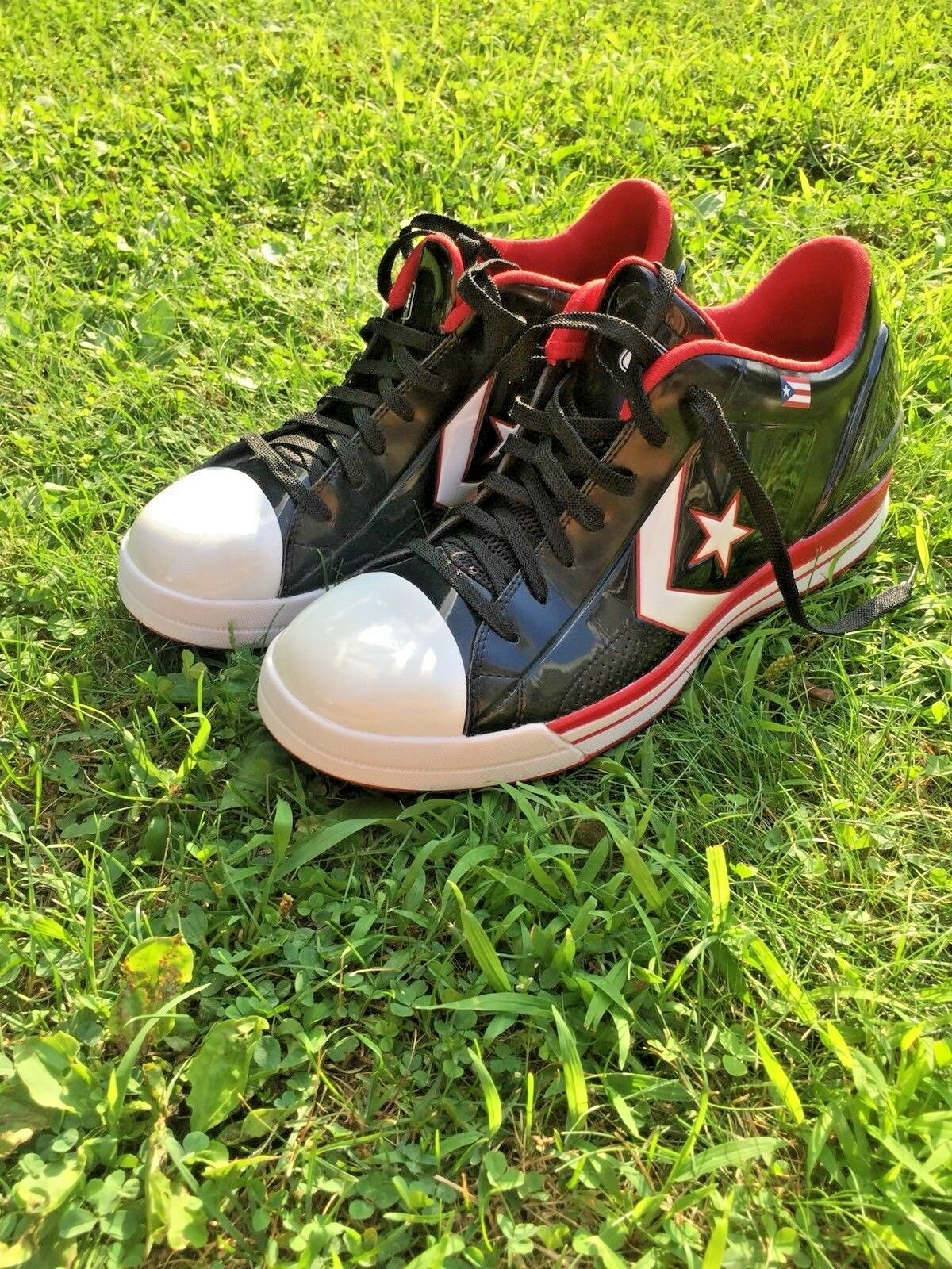 Men's Converse CA Puerto Rico Black shoes 124635 Size 13 S166