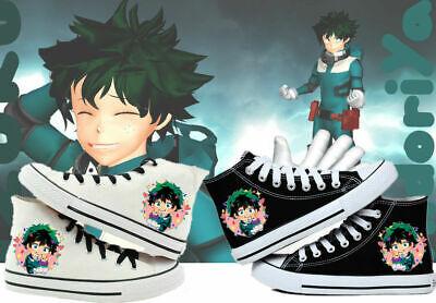 My Hero Academia Midoriya Izuku Unisex High Top Leisure Canvas Shoes Fashion Ebay