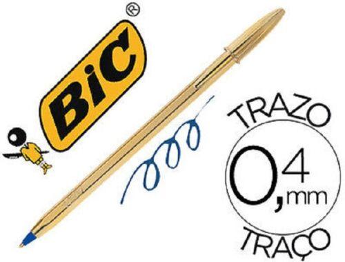 NEU 10 X BIC GOLD mit schwarzer Tinte NO BOX !!!