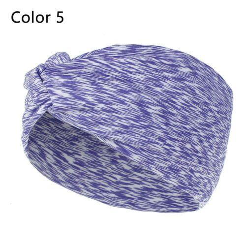 Stretchy Headwraps Sports Hairband Sweatband Women/'s Headbands Cross Hair Band