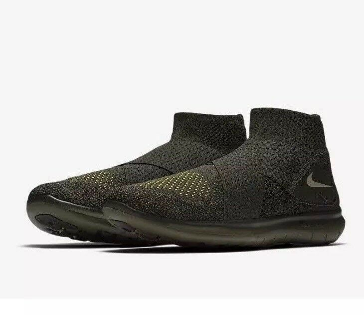 Nike Free RN Motion Flyknit 2017 Men's Size 10.5 Running shoes 880845-301 NEW