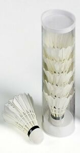 6 Stueck feine sportliche weiche Kunststoff Badminton Federball weiss Badminton