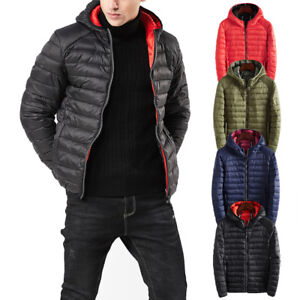 Men's Clothing Lovely Man Winter Autumn Jacket 90% White Duck Down Jackets Men Hooded Ultra Light Down Jackets Warm Outwear Coat Parkas Outdoors Punctual Timing Down Jackets