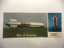 RARE VTG ZEPPELIN STAR OF AMERICA NUCLEAR POWERED AIRSHIP POSTCARD