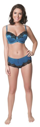 Parfait Danielle 8501 Peacock Blue Lightly Padded UW Contour Bra NWT Large Sizes
