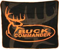 Black & Orange Buck Commander Soft & Fluffy Throw Polyester Blanket 50 X 60