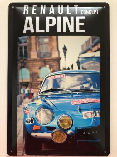 Blechschild 30 X 20 cm Renault Alpine