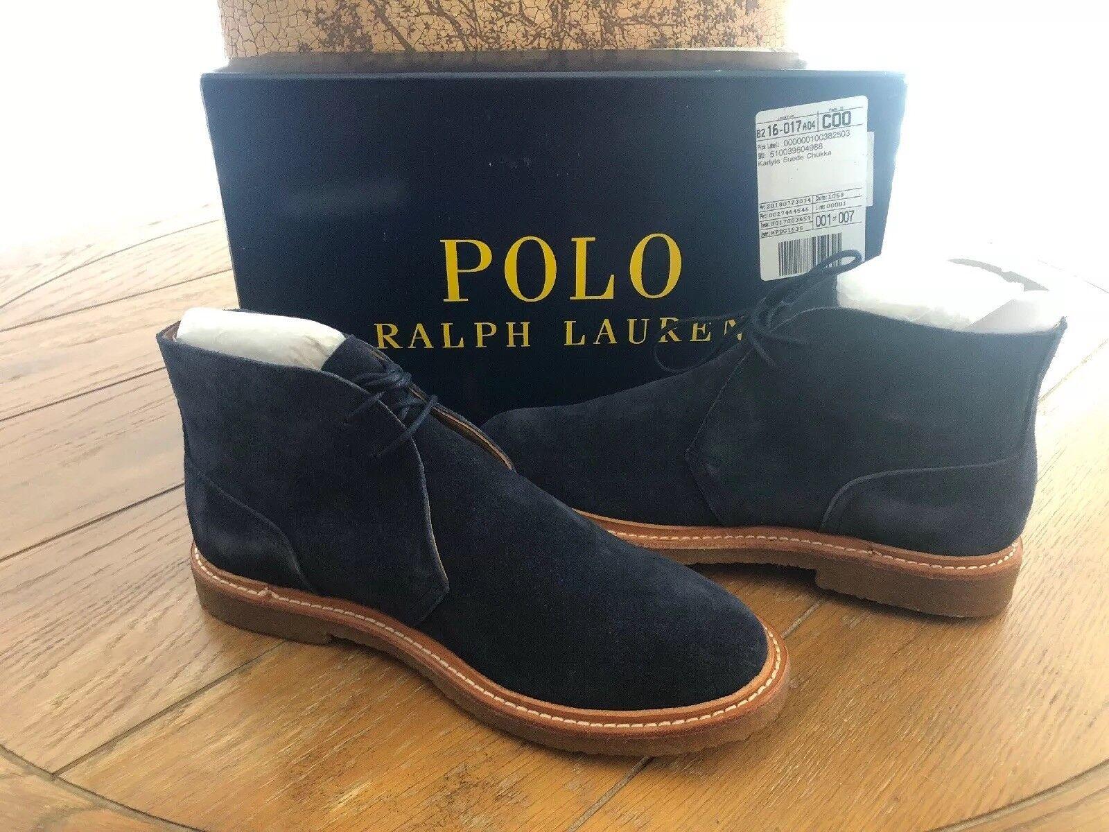 New Polo Ralph Lauren Mens FashionBoot Karyle size 7.5 color Navy