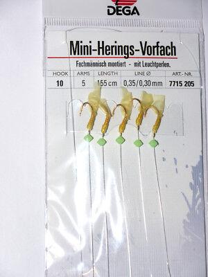 Heringspaternoster  GR 10 von DEGA 150 cm lang 5 Seitenarme Hering Heringskette